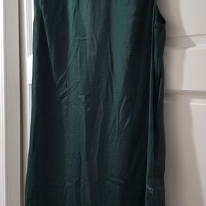 Metaphor Dresses - Dark Green Sleeveless Dress